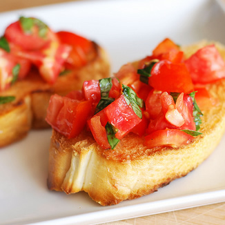 Tomato and Basil Bruschetta