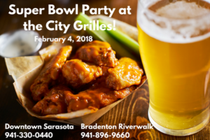 Super Bowl LII Party @ Our City Grille Locations